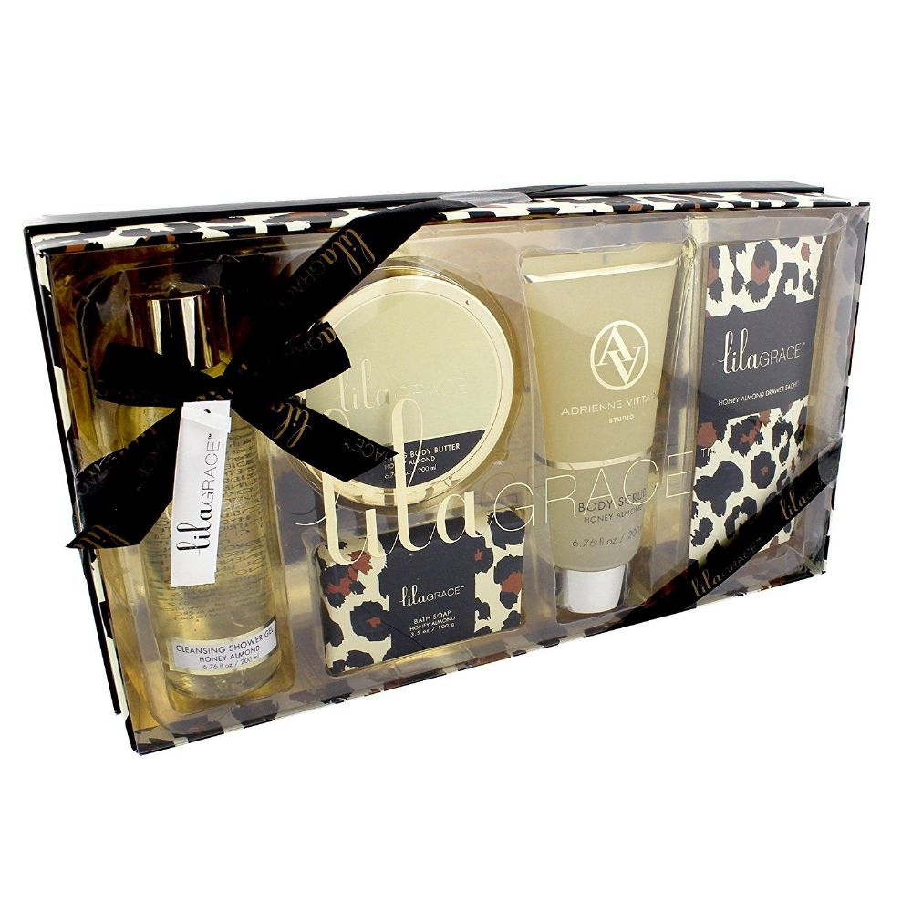 Lila Grace Leopard Bath Gift Set